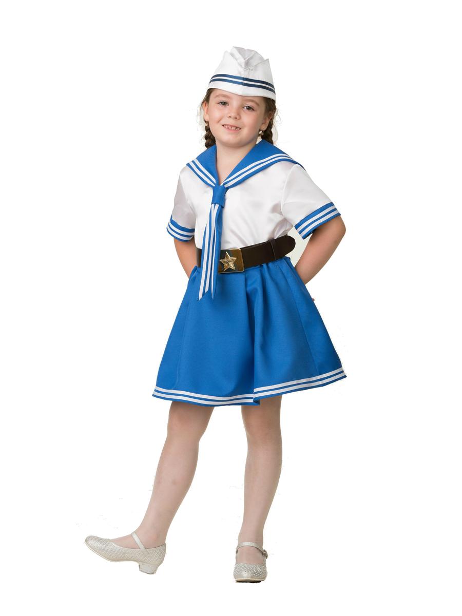 Батик Костюм карнавальный для девочки Морячка размер 28 батик костюм карнавальный для девочки зайка размер 28
