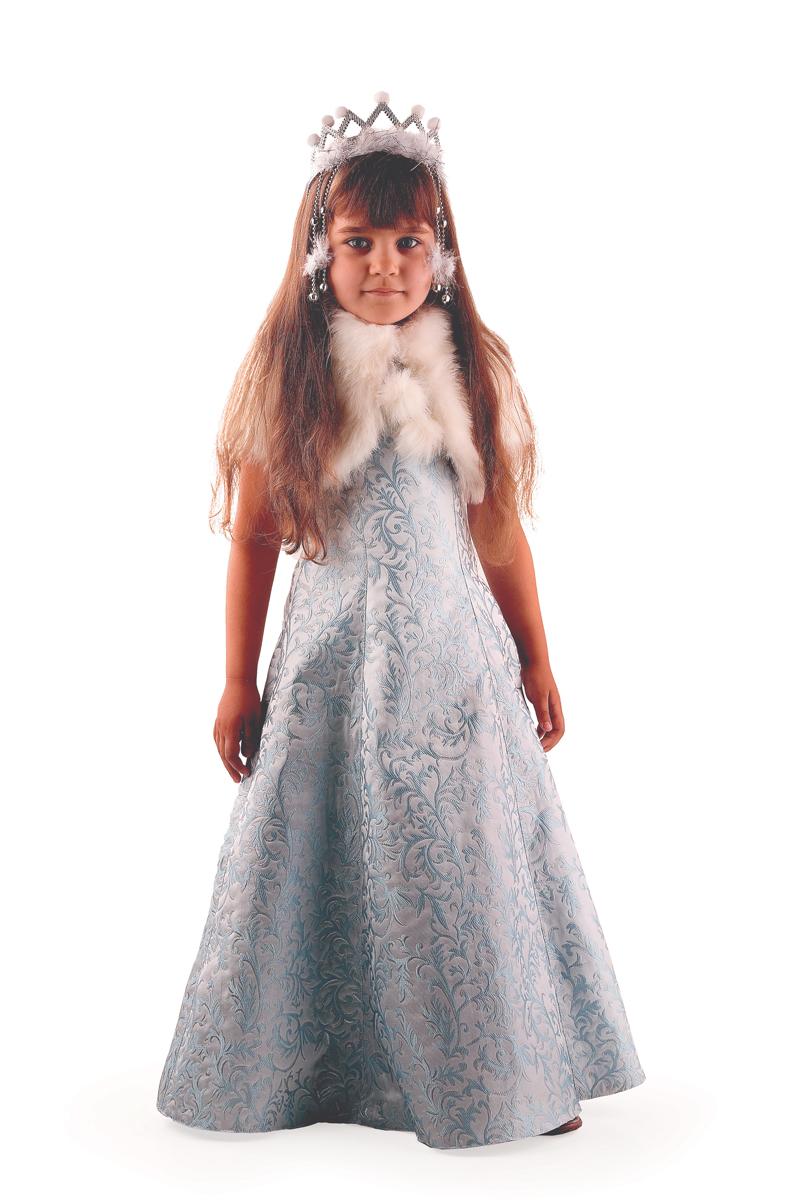 Батик Костюм карнавальный для девочки Снегурочка Жемчужная размер 32