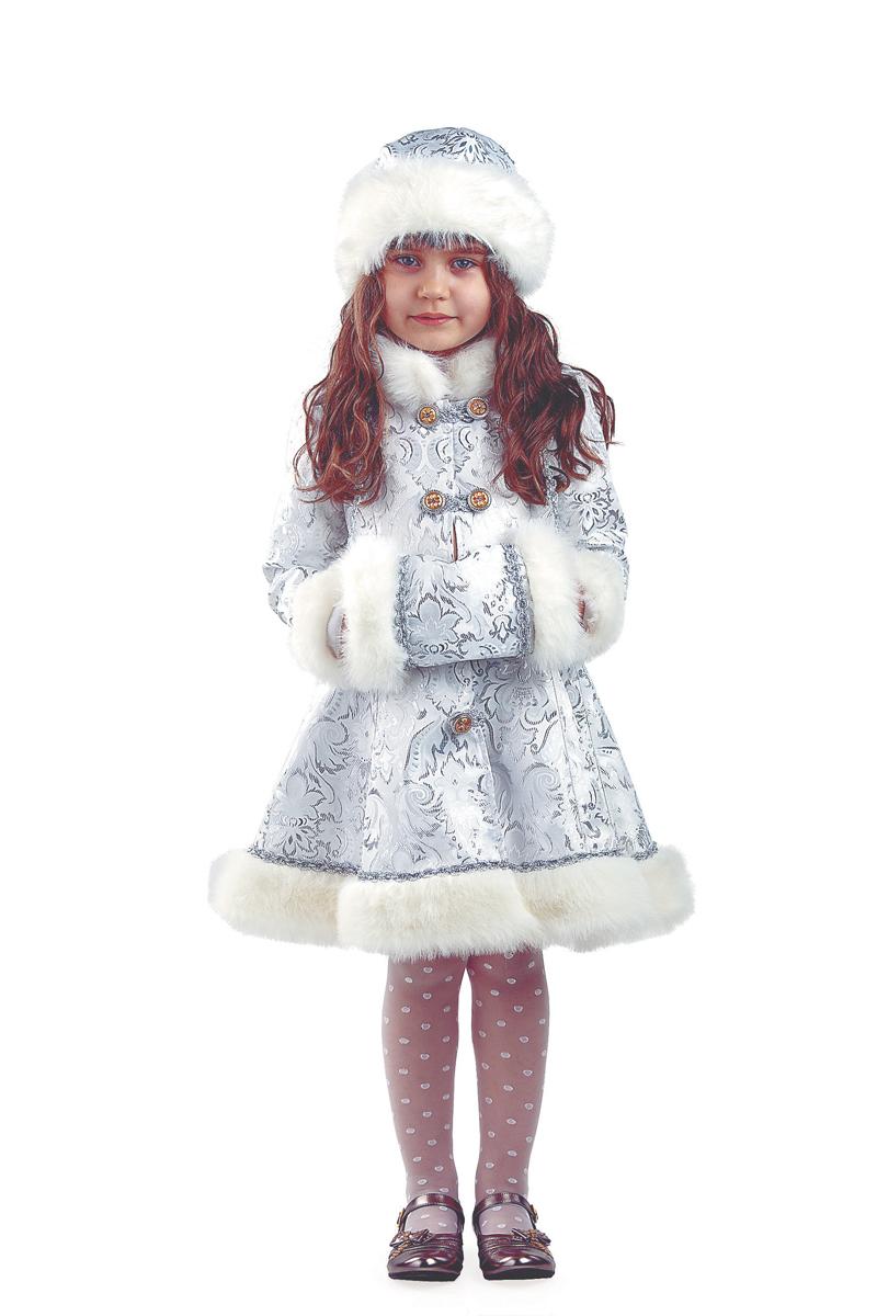 Батик Костюм карнавальный для девочки Снегурочка Хрустальная размер 34 12storeez шуба укороченная из искусственного меха бежевый