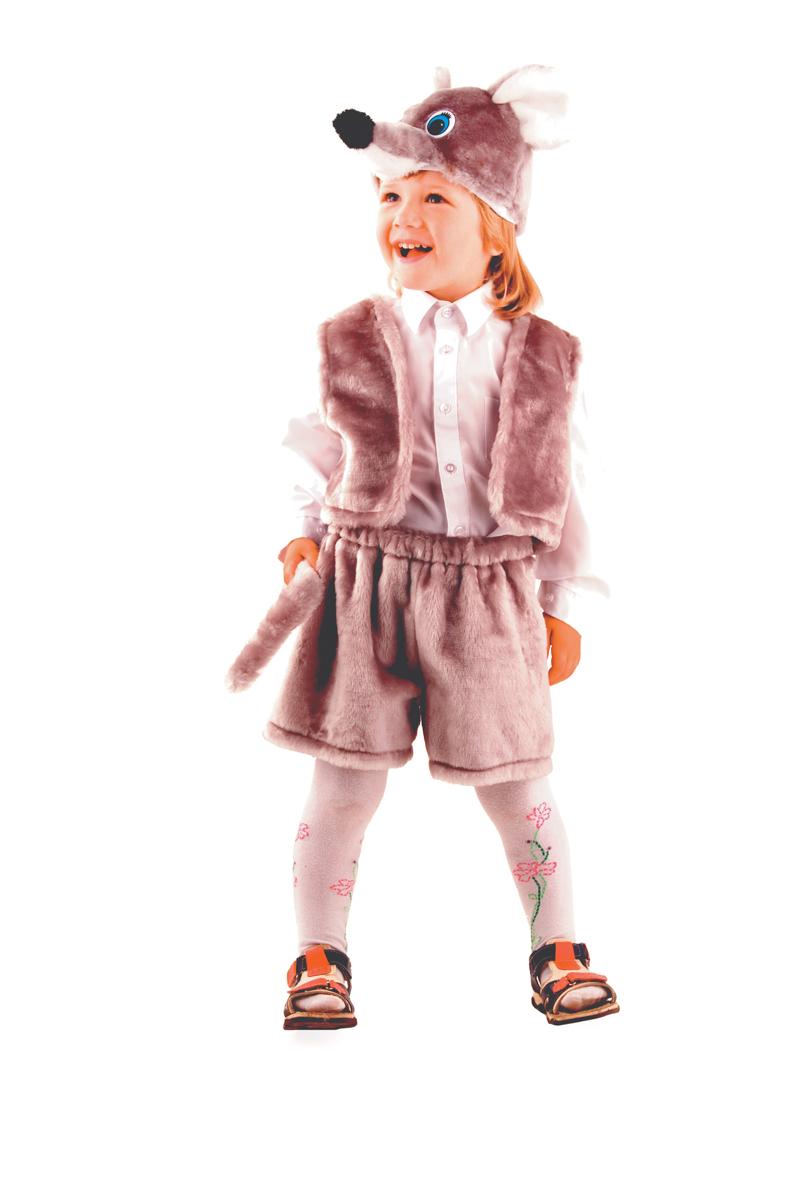 Батик Костюм карнавальный для мальчика Мышонок цвет серый размер 28