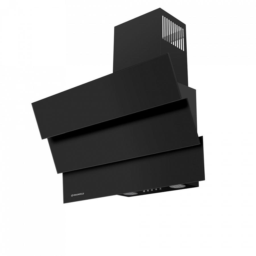 Кухонная вытяжка MAUNFELD Cascada Mini 60 черный На ваш выбор можно сделать отвод в вентиляционное отверстие...