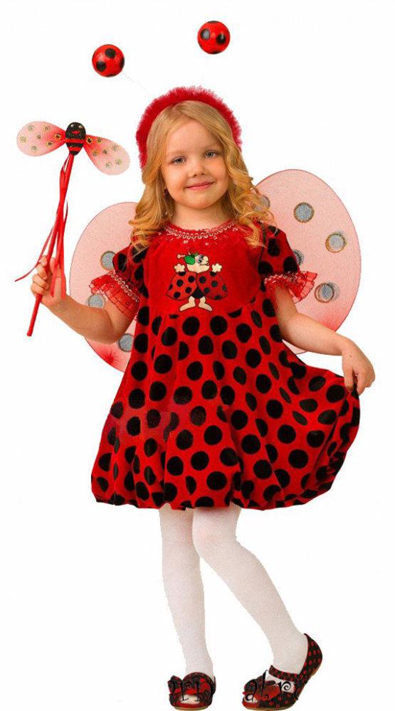 Батик Костюм карнавальный для девочки Божья Коровка размер 28