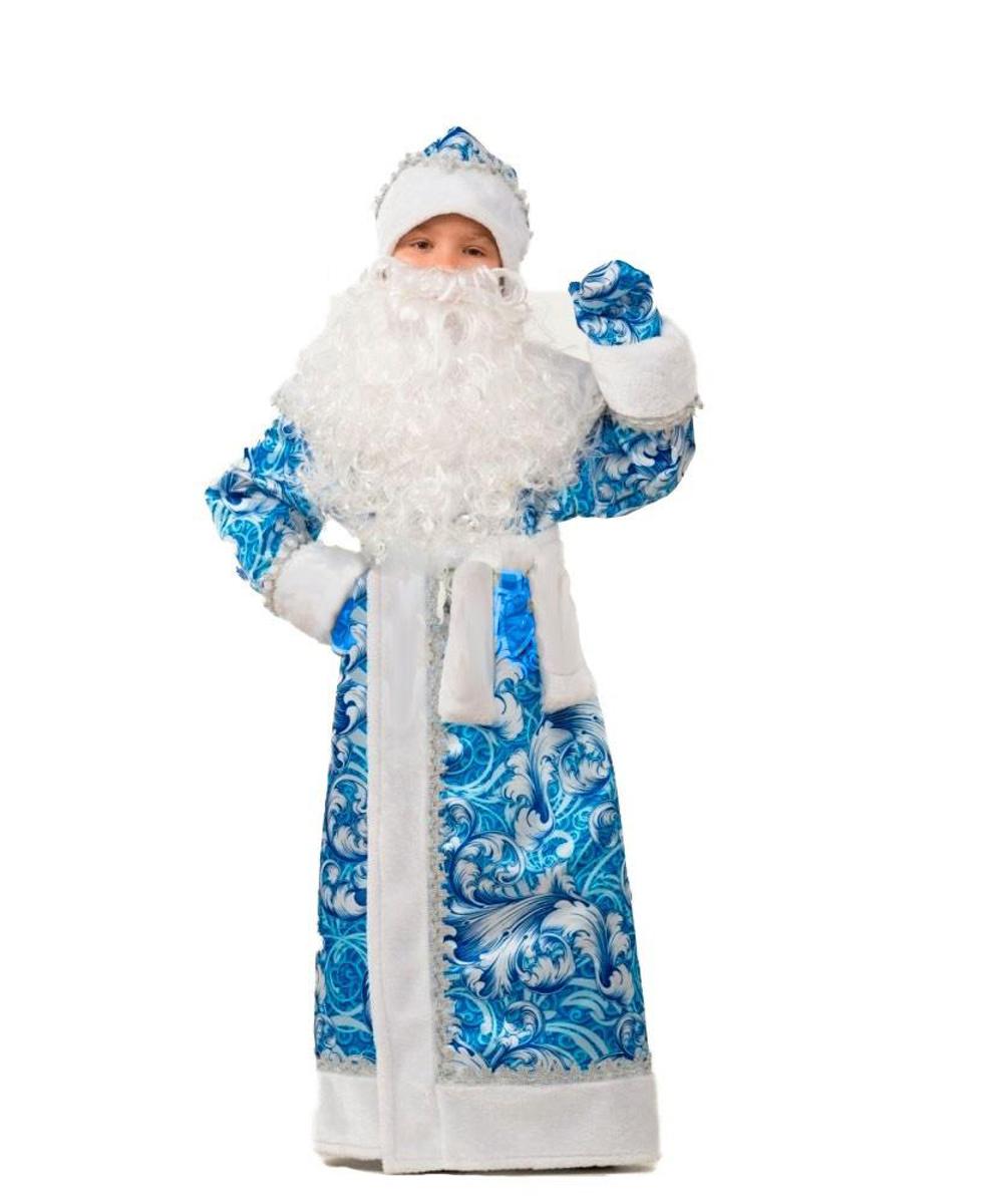 Батик Костюм карнавальный для мальчика Дед Мороз сказочный размер 38 костюм карнавальный батик дед мороз цвет серебристый синий размер 54 56 354461
