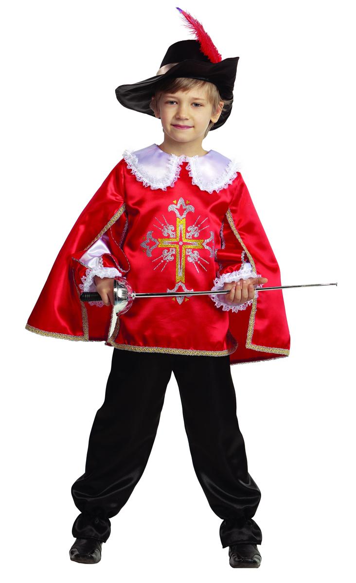 Батик Костюм карнавальный для мальчика Мушкетер цвет красный размер 26