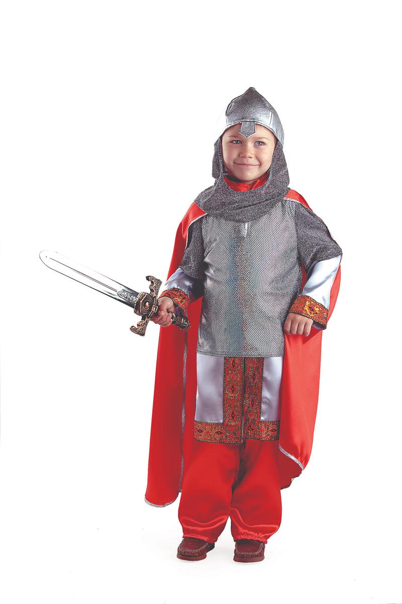 Батик Костюм карнавальный для мальчика Богатырь размер 32 батик костюм карнавальный для мальчика черный плащ размер 28
