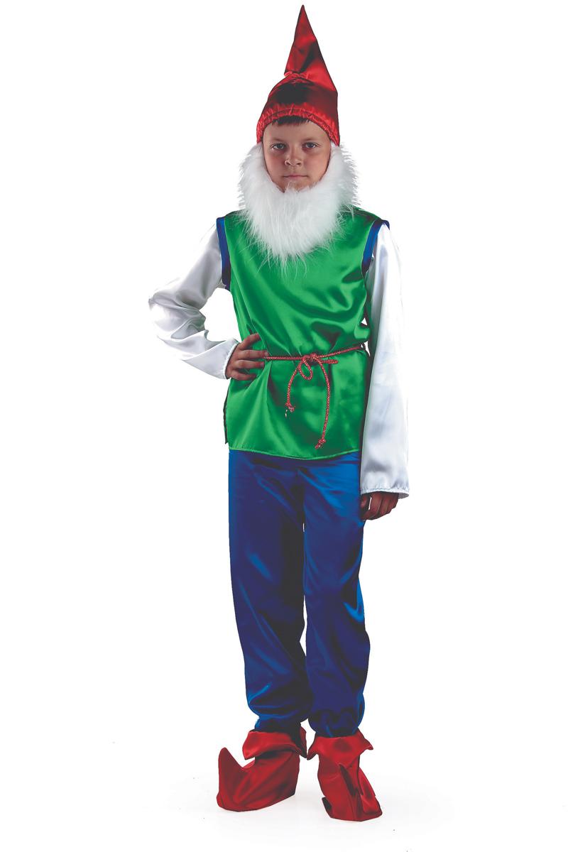 Батик Костюм карнавальный для мальчика Гном размер 34