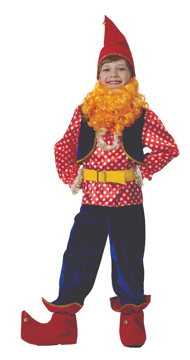 Батик Костюм карнавальный для мальчика Гном Весельчак размер 34