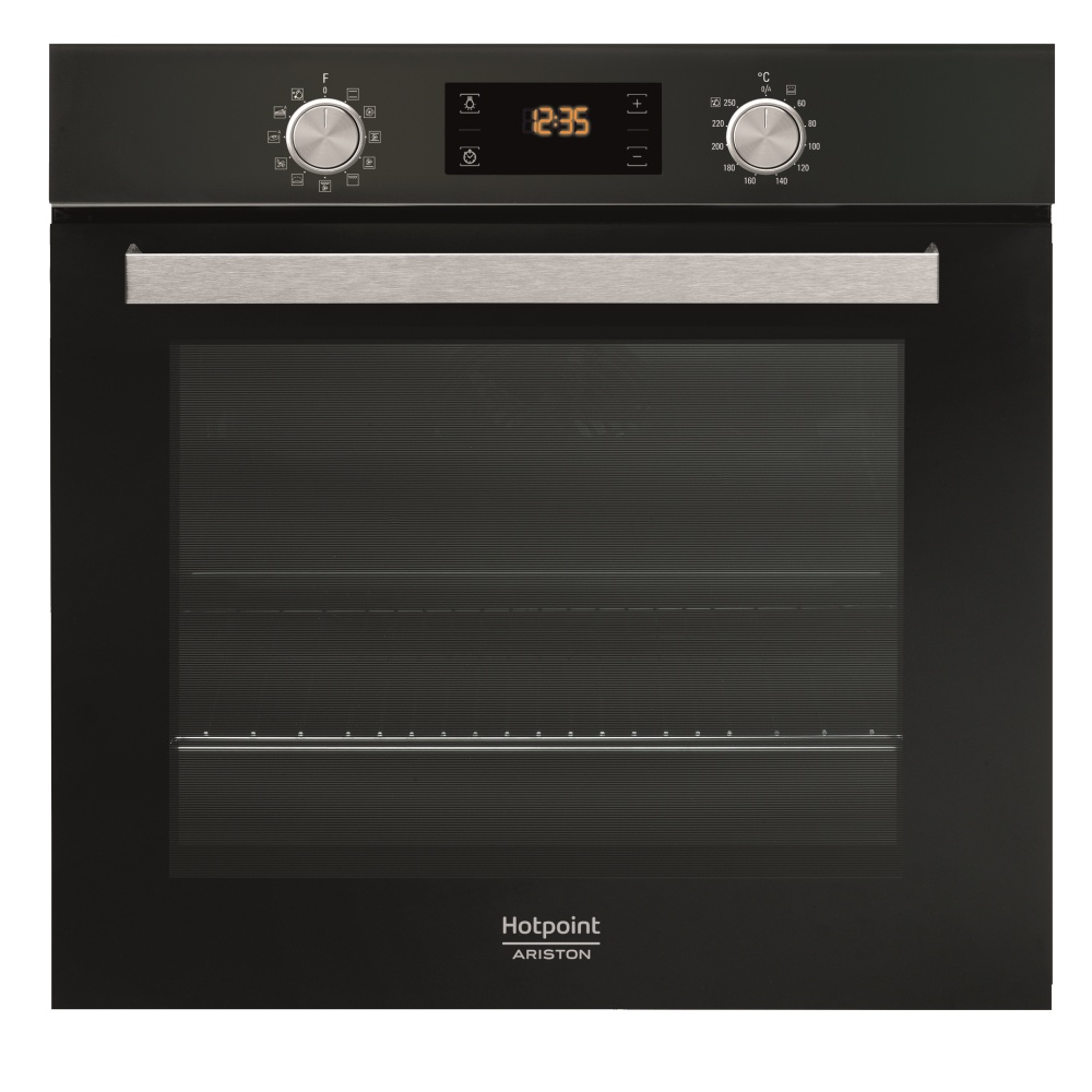 Hotpoint-Ariston FA5 841 JH BL HA, Black электрический духовой шкаф встраиваемый встраиваемая электрическая духовка hotpoint ariston fa5 841 jh whg ha