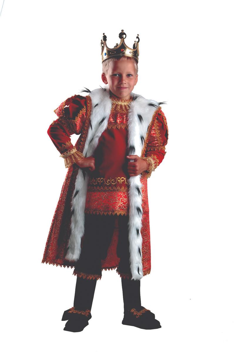 Батик Костюм карнавальный для мальчика Король размер 30 батик костюм карнавальный для мальчика король цвет красный белый размер 30