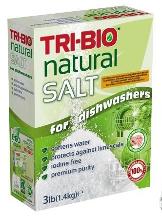 Соль для посудомоечных машин TriBio натуральная 14 кг