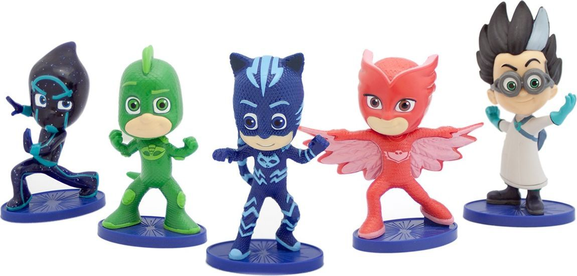 Герои в масках Игровой набор из 5 фигурок 8 см pj masks набор толстых восковых карандашей герои в масках 8 цветов 34062
