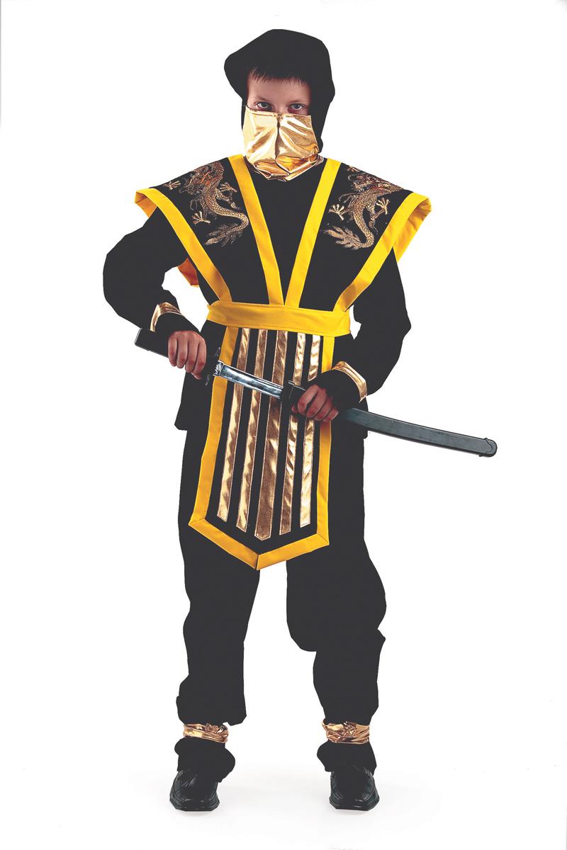 Батик Костюм карнавальный для мальчика Мастер Ниндзя цвет желтый размер 38 карнавальный костюм jeanees зайка капризка цвет голубой размер 24