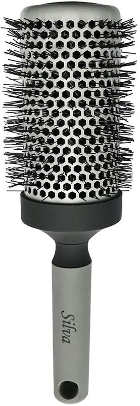 цена на Clarette Щетка для волос круглая большая, цвет: серый. SB 488