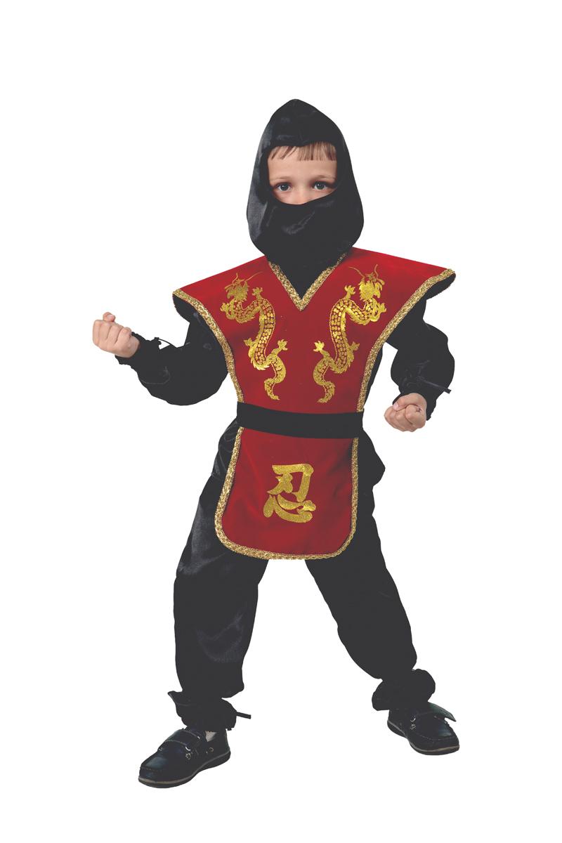 Батик Костюм карнавальный для мальчика Ниндзя цвет красный размер 40 батик костюм карнавальный для мальчика король цвет красный белый размер 30