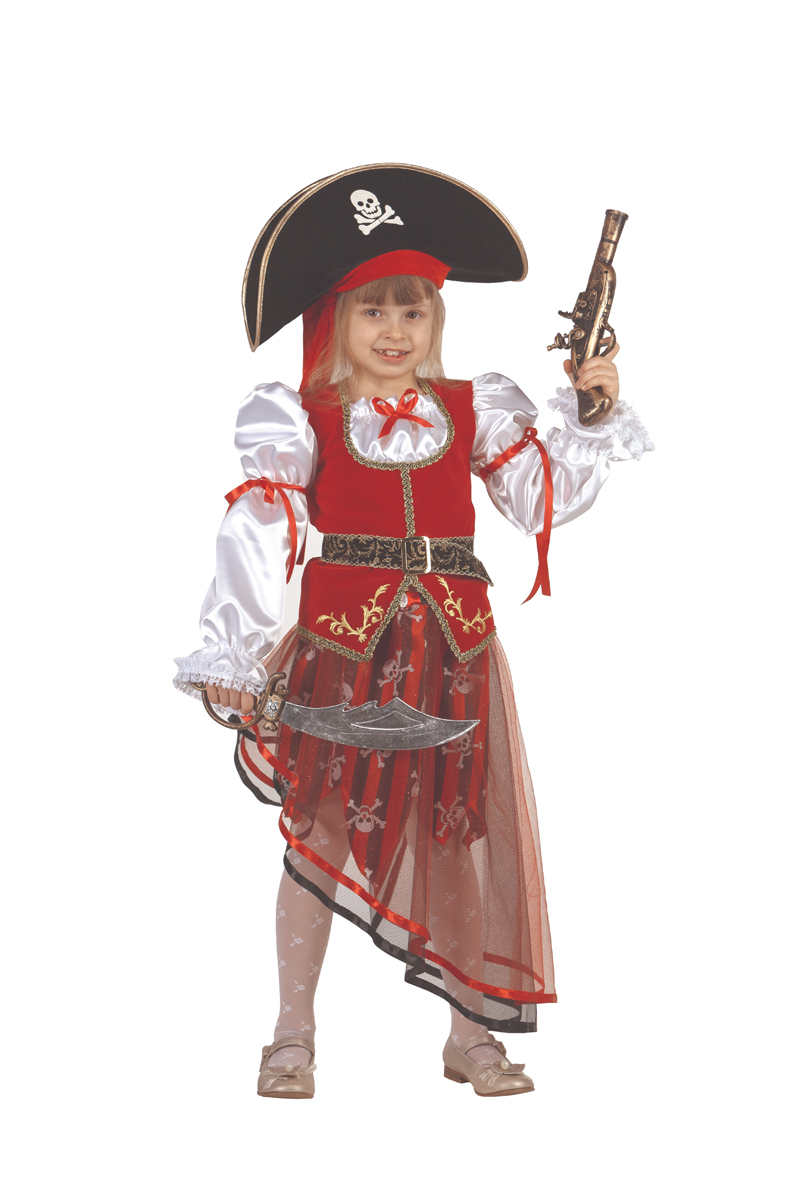 Батик Костюм карнавальный для девочки Пиратка размер 38