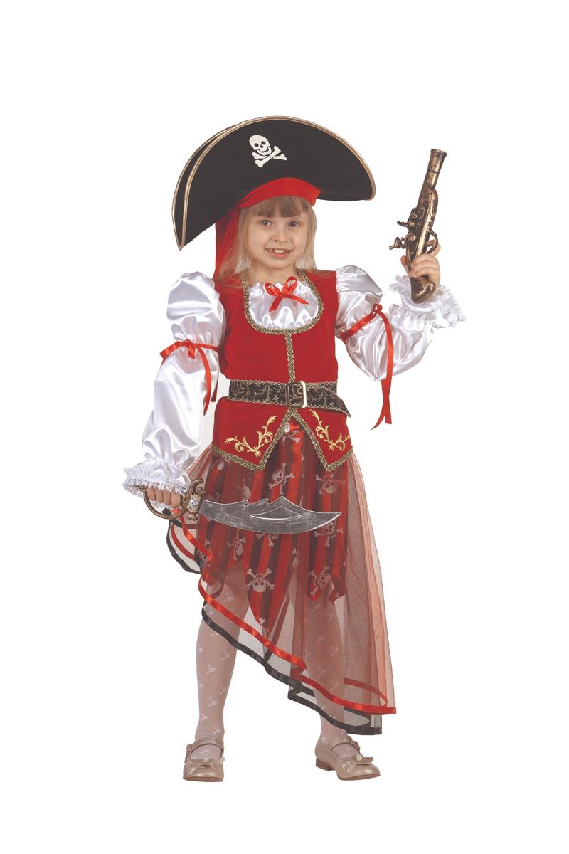 Батик Костюм карнавальный для девочки Пиратка размер 28