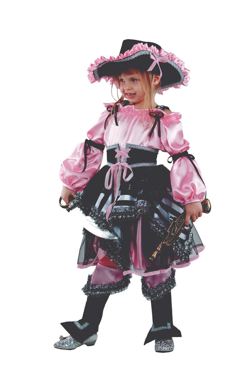 Батик Костюм карнавальный для девочки Пиратка цвет розовый размер 36