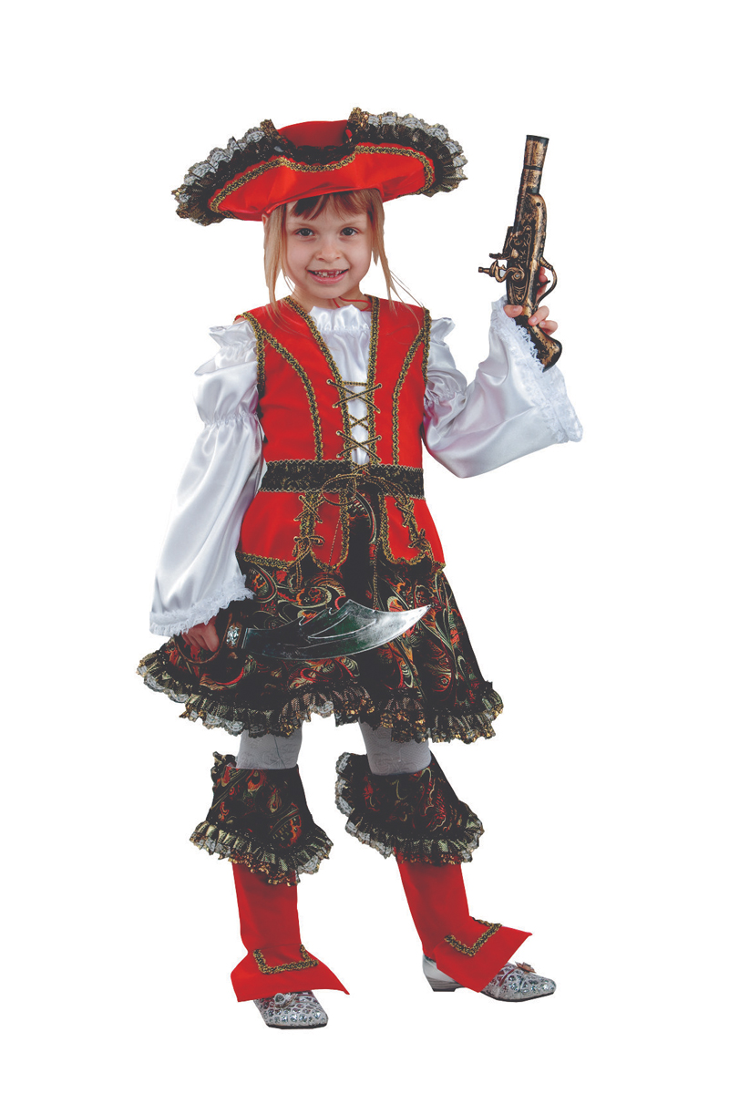 Батик Костюм карнавальный для девочки Разбойница размер 30