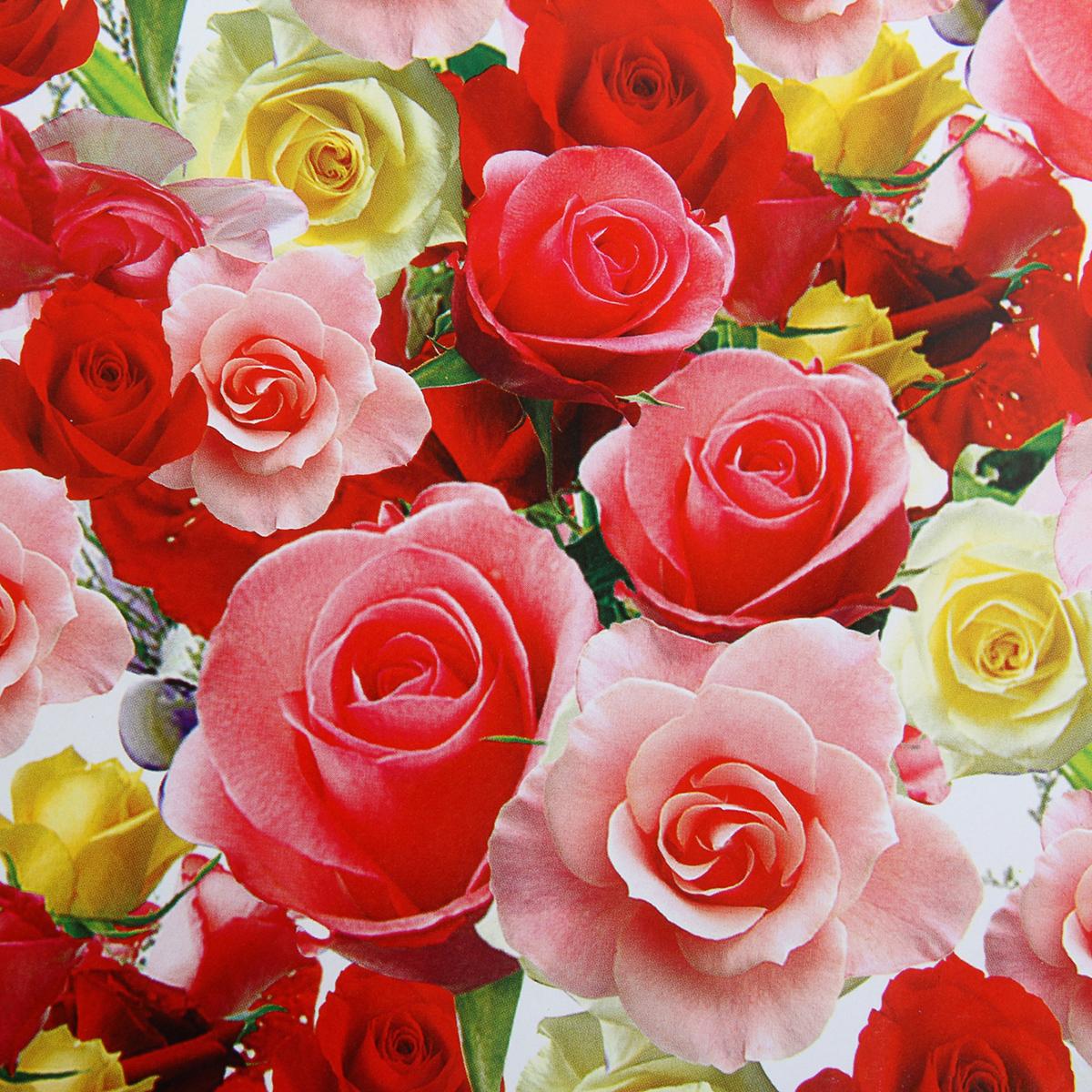Бумага упаковочная Цветы для любимых, 52 х 76 см. 852393 продать товар оптом