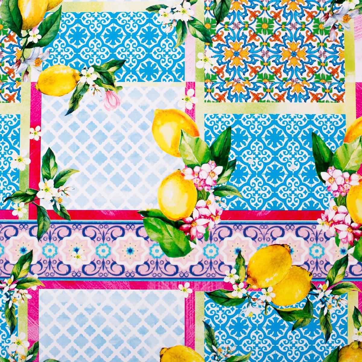 Бумага упаковочная Дарите счастье Лимонное настроение, глянцевая, 70 х 100 см. 2498452 зайцева а как упаковать подарок красиво и оригинально