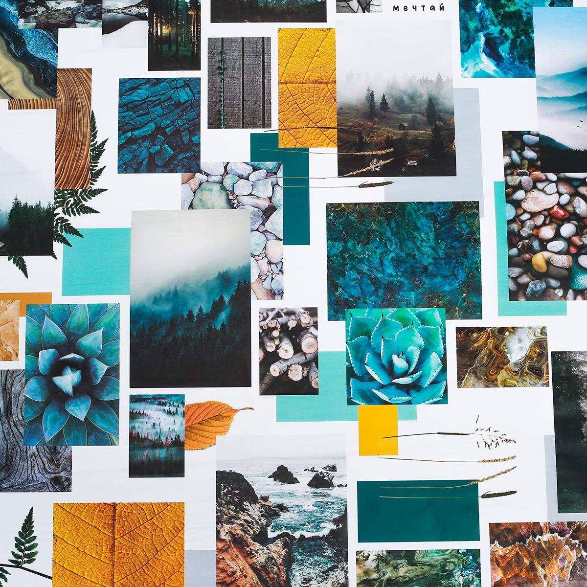 """Бумага упаковочная Дарите счастье """"Природа"""", глянцевая, 70 х 100 см. 2917803"""