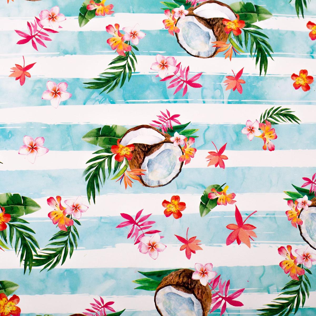 Бумага упаковочная Дарите счастье Райское наслаждение, глянцевая, 70 х 100 см. 2498462 зайцева а как упаковать подарок красиво и оригинально