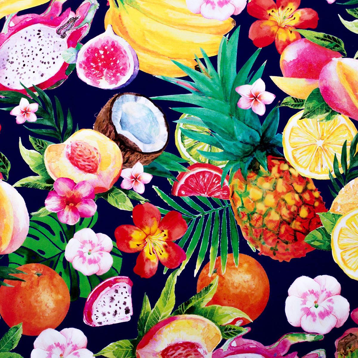 Бумага упаковочная Дарите счастье Сочные фрукты, глянцевая, 70 х 100 см. 2498460 зайцева а как упаковать подарок красиво и оригинально