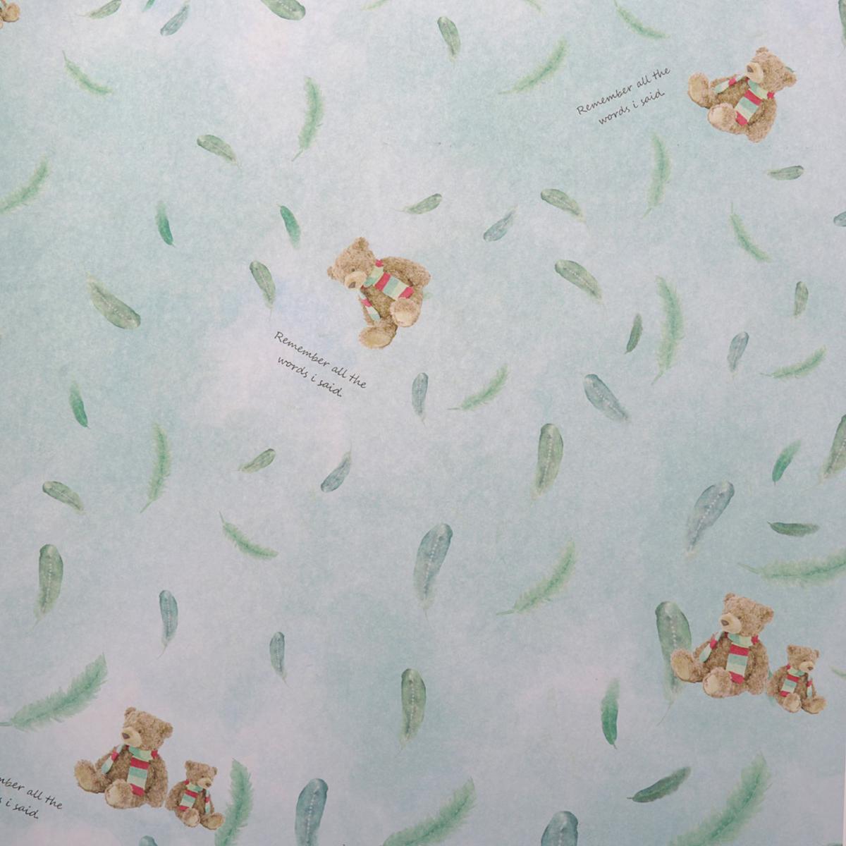 """Бумага упаковочная """"Медвежата"""", глянцевая, 50 х 70 см. 2479773"""