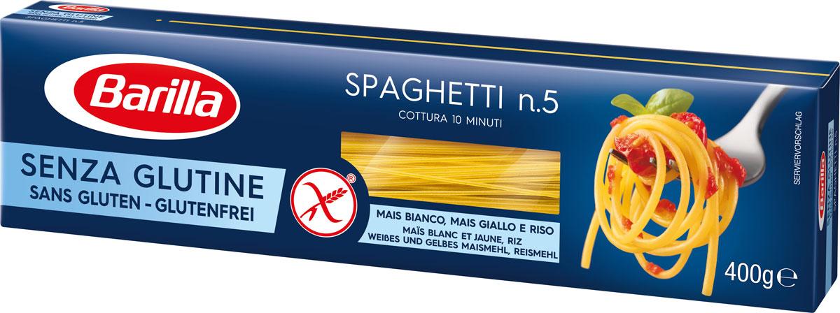 Barilla спагетти без глютена, 400 г