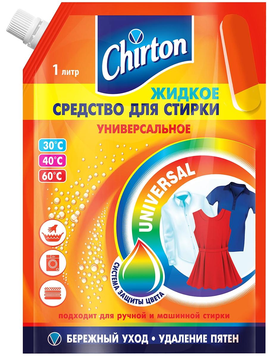 жидкое средство для стирки chirton универсальное 1 325л Жидкое средство для стирки Chirton, универсальное, 1 л