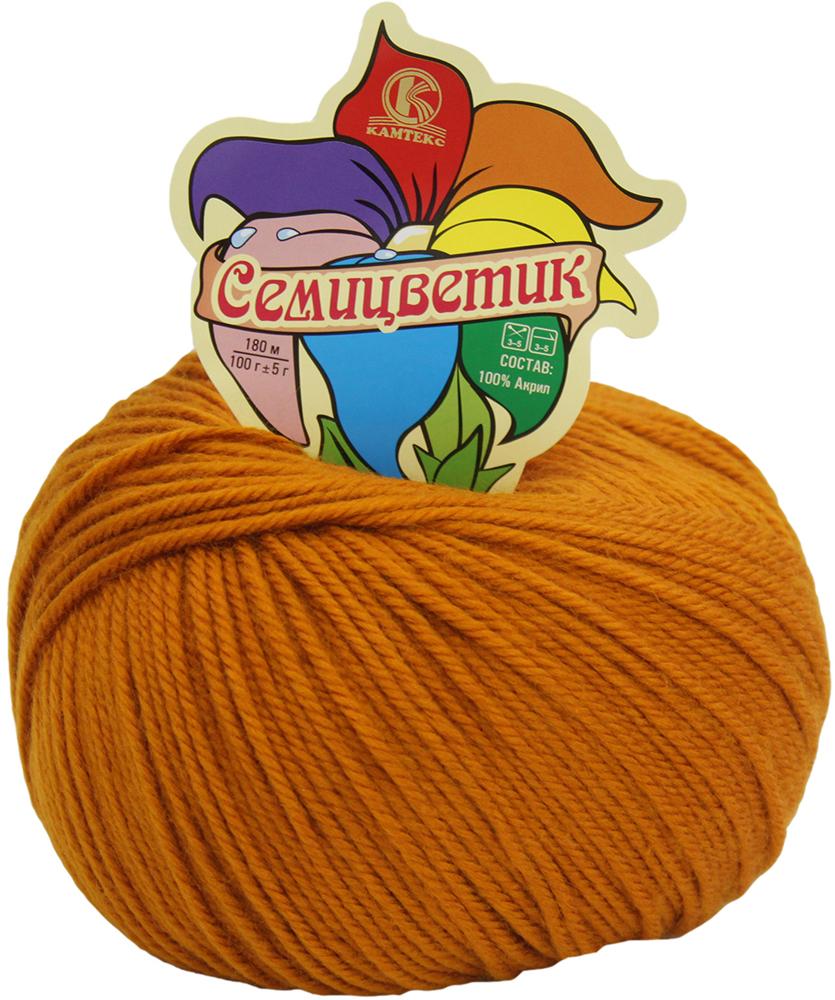 Пряжа для вязания Камтекс Семицветик, цвет: золотистый (112), 180 м, 100 г, 10 шт пряжа для вязания камтекс семицветик цвет розовый 056 180 м 100 г 10 шт