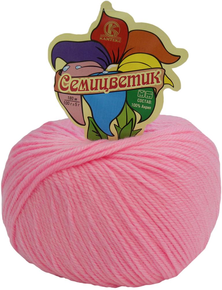 Пряжа для вязания Камтекс Семицветик, цвет: розовый (056), 180 м, 100 г, 10 шт пряжа для вязания камтекс семицветик цвет розовый 056 180 м 100 г 10 шт