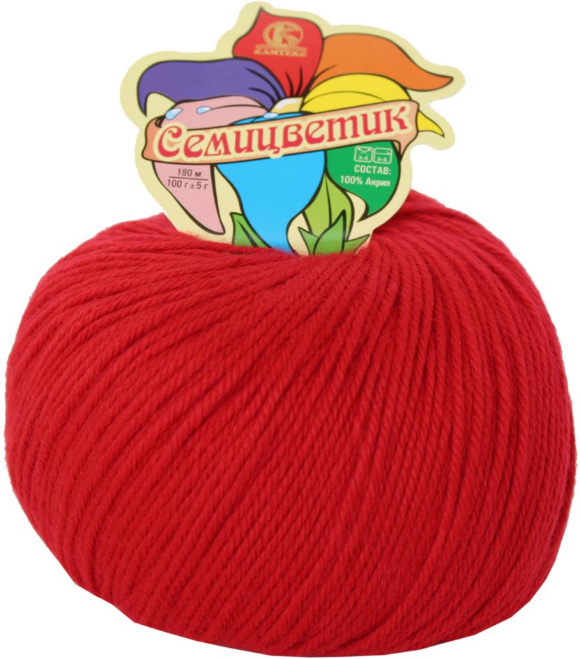 Пряжа для вязания Камтекс Семицветик, цвет: красный (046), 180 м, 100 г, 10 шт пряжа для вязания камтекс семицветик цвет розовый 056 180 м 100 г 10 шт