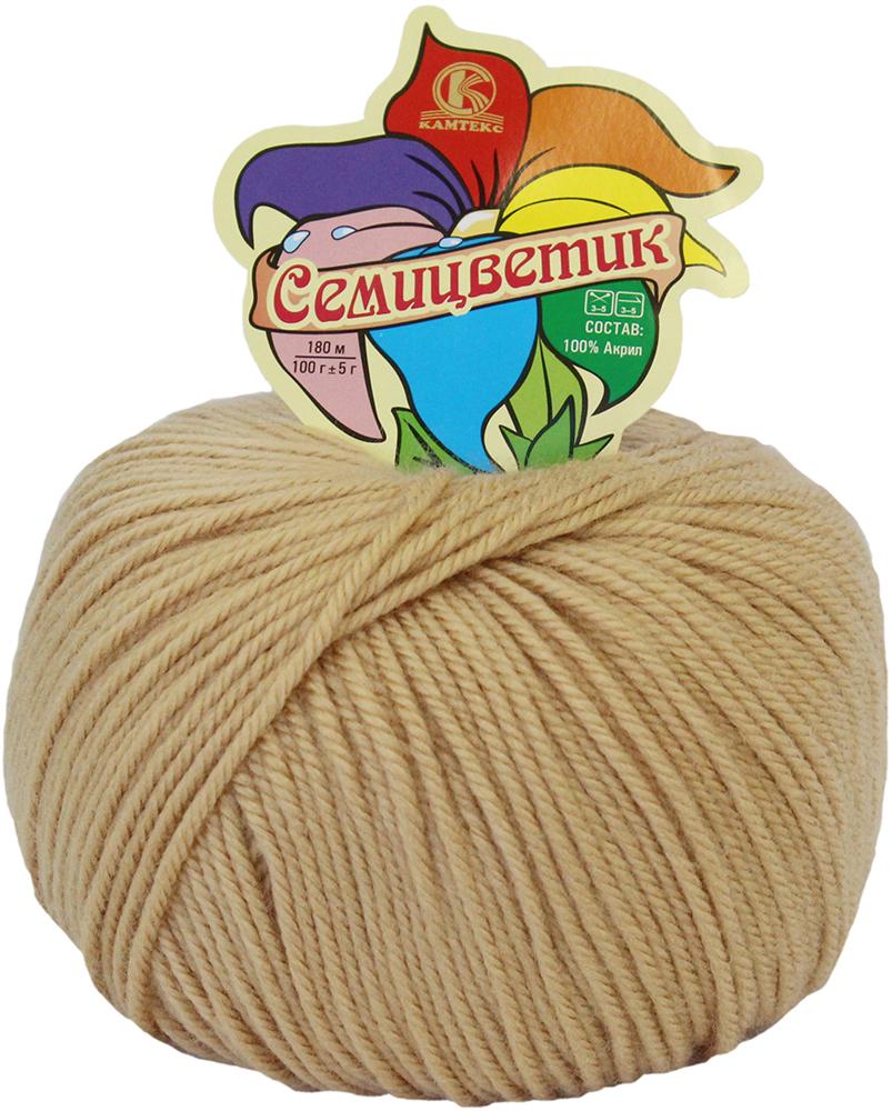 Пряжа для вязания Камтекс Семицветик, цвет: светло-бежевый (006), 180 м, 100 г, 10 шт пряжа для вязания камтекс семицветик цвет розовый 056 180 м 100 г 10 шт