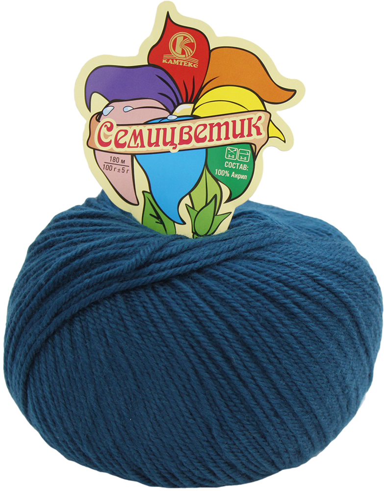 Пряжа для вязания Камтекс Семицветик, цвет: морская волна (139), 180 м, 100 г, 10 шт пряжа для вязания камтекс семицветик цвет розовый 056 180 м 100 г 10 шт