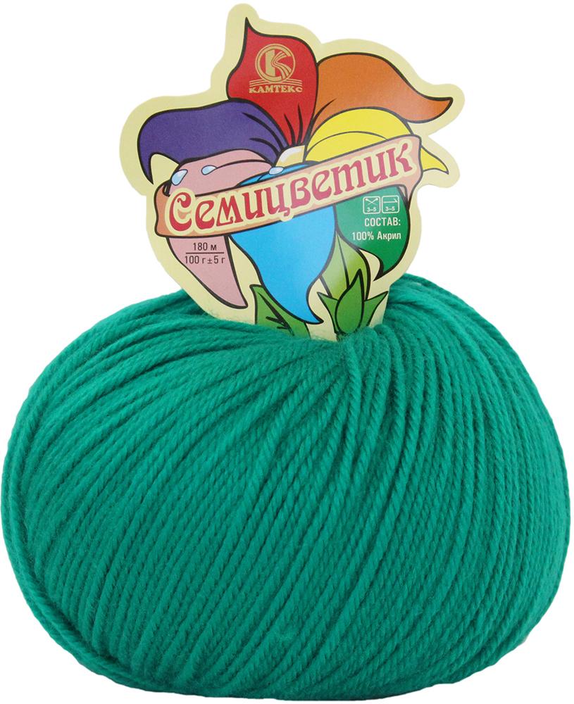 Пряжа для вязания Камтекс Семицветик, цвет: ярко-зеленый (109), 180 м, 100 г, 10 шт пряжа для вязания камтекс семицветик цвет розовый 056 180 м 100 г 10 шт