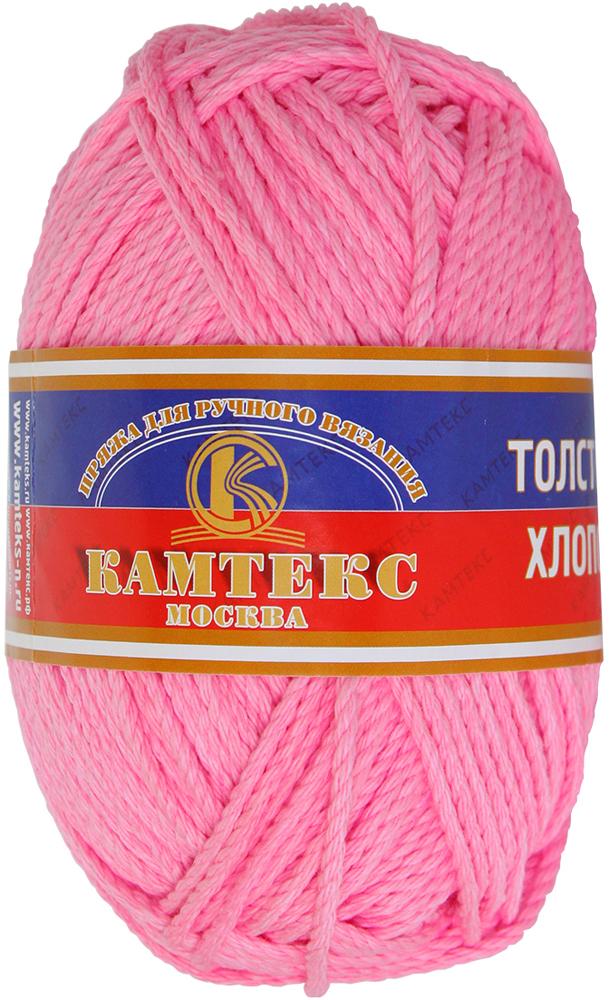 Пряжа для вязания Камтекс Толстый хлопок, цвет: розовый (056), 100 м, 100 г, 10 шт пряжа для вязания камтекс семицветик цвет розовый 056 180 м 100 г 10 шт