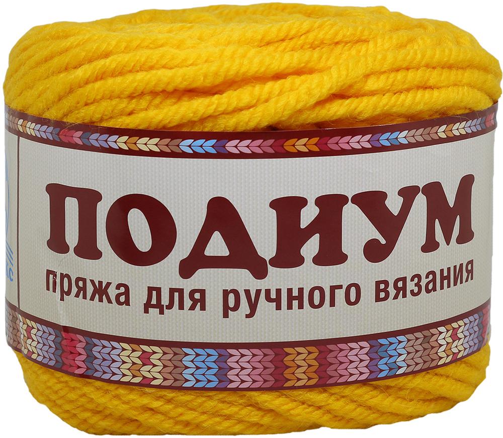 """Пряжа для вязания Камтекс """"Подиум"""", цвет: желтый (104), 125 м, 250 г, 2 шт"""