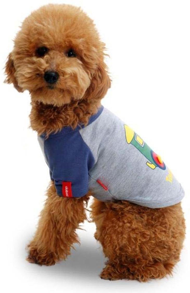 Майка для собак Dobaz Паровозик, унисекс, цвет: голубой. ДА025БХХЛ. Размер XXL майка для собак dobaz паровозик унисекс цвет темно зеленый оранжевый да025бххл размер xxl