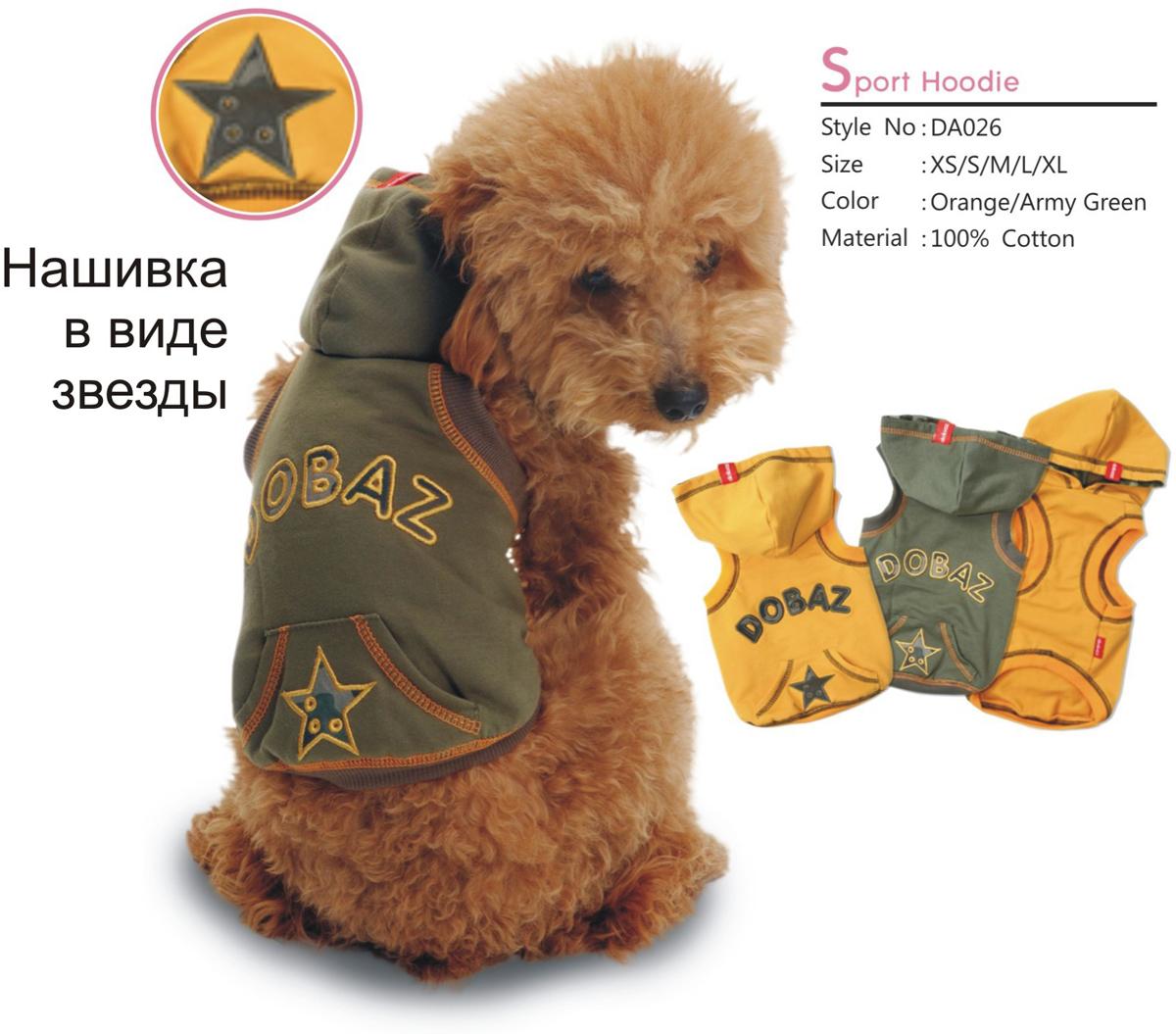 "Майка для собак ""Dobaz"", унисекс, цвет: хаки. ДА026БХЛ. Размер XL"