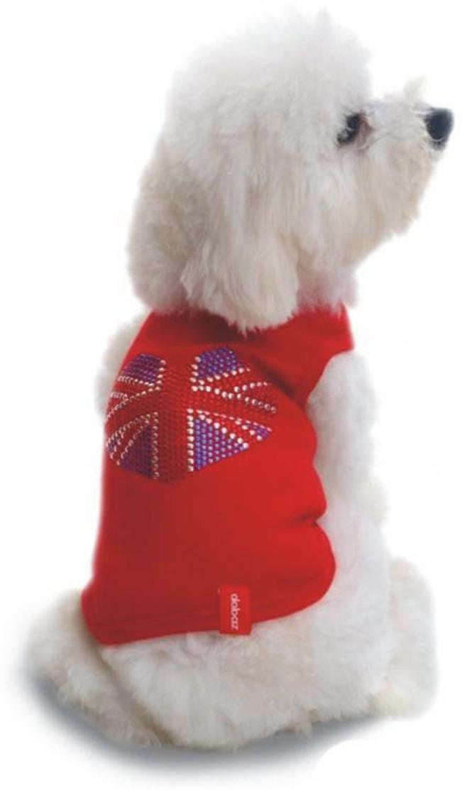 "Майка для собак Dobaz ""Британский флаг"", цвет: хаки. ДА028БХХЛ. Размер XXL"