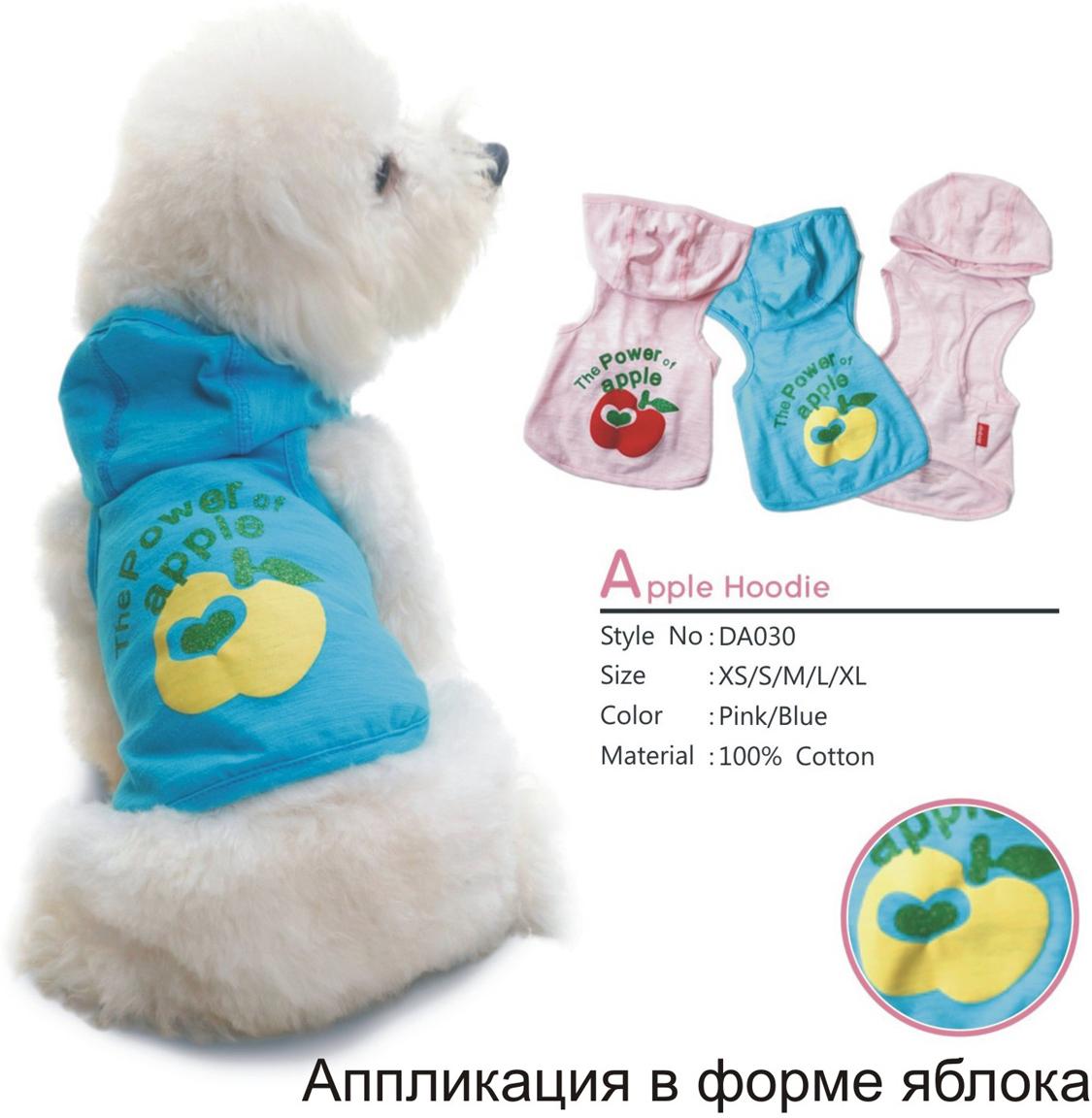 """Майка для собак Dobaz """"Яблоко"""", унисекс, цвет: голубой. ДА030БХХЛ. Размер XXL"""