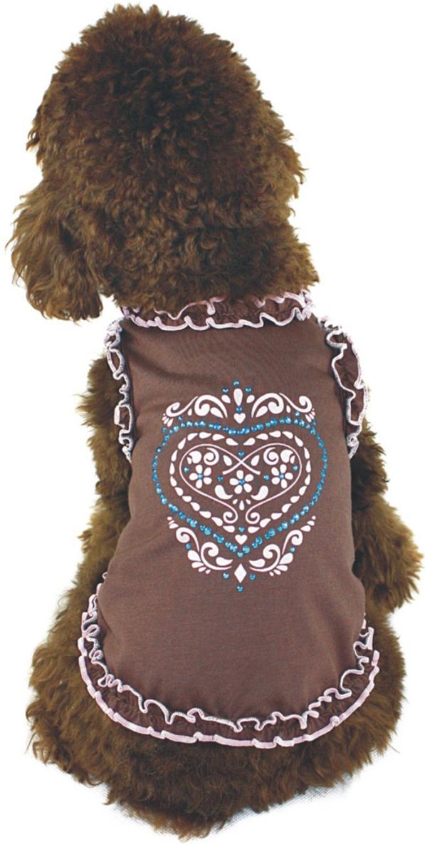 """Майка для собак """"Dobaz"""", для девочки, цвет: коричневый. ДА1102АХХЛ. Размер XXL"""