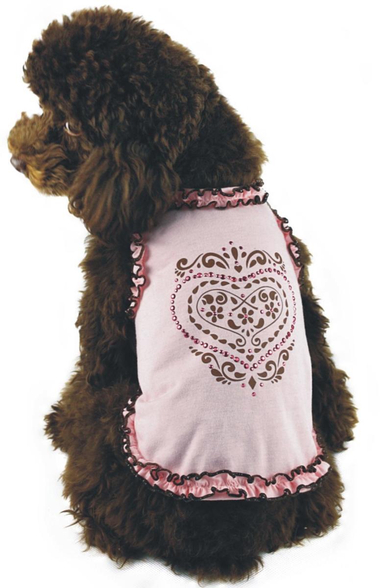 """Майка для собак """"Dobaz"""", для девочки, цвет: нежно-розовый. ДА1102БХЛ. Размер XL"""