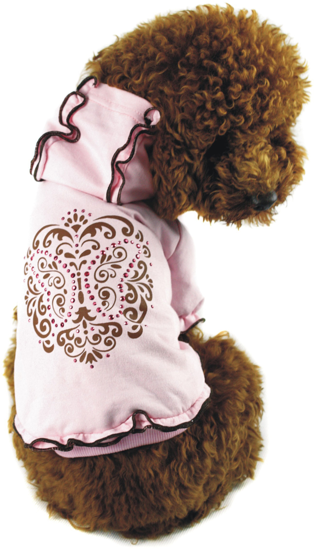 "Майка-туника для собак ""Dobaz"", утепленная, для девочки, цвет: розовый. ДА1103АХХЛ. Размер XXL"