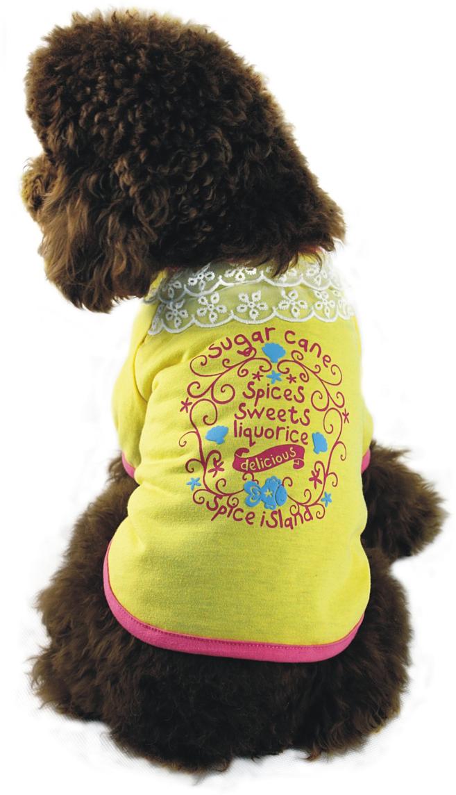 """Майка для собак """"Dobaz"""", для девочки, цвет: желтый. ДА1107АХЛ. Размер XL"""