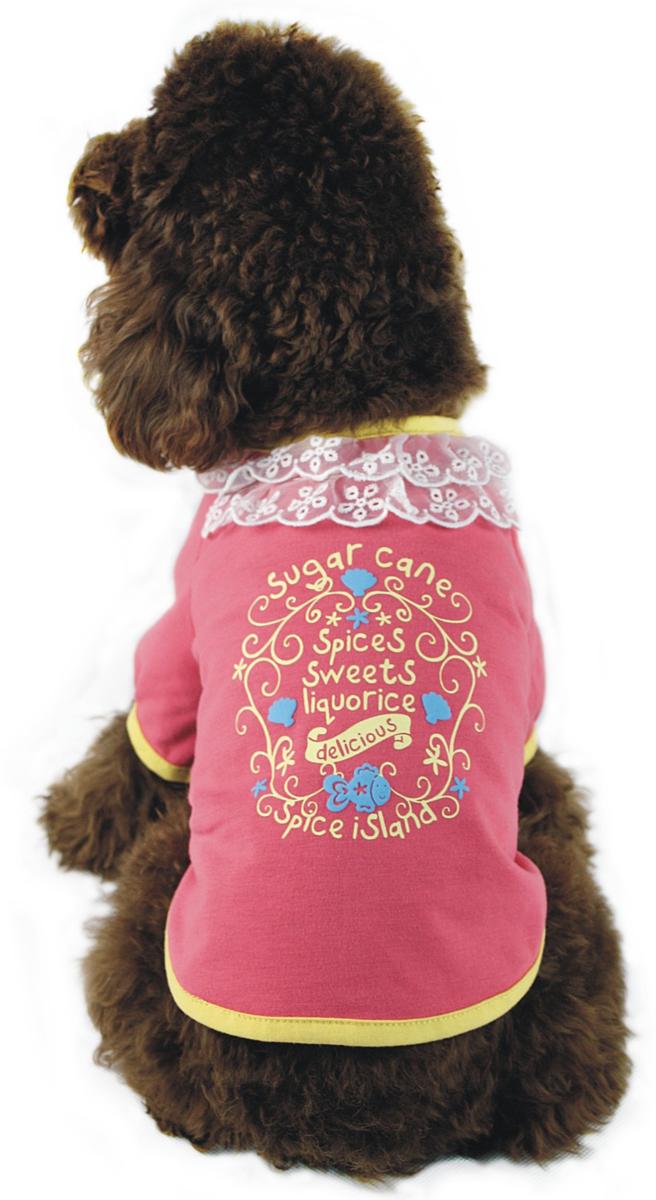 """Майка для собак """"Dobaz"""", для девочки, цвет: розовый. ДА1107БХЛ. Размер XL"""