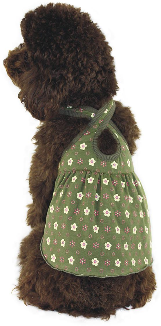 """Платье для собак """"Dobaz"""", цвет: зеленый. ДА1117БЛ. Размер L"""