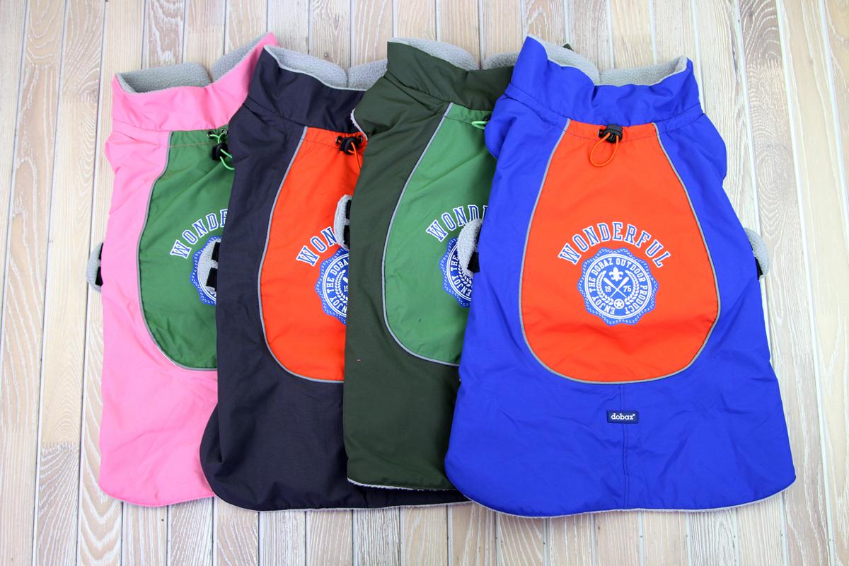 """Куртка для собак """"Dobaz"""", водонепроницаемая, утепленная, цвет: синий. ДА1202В6ХЛ. Размер 6XL"""