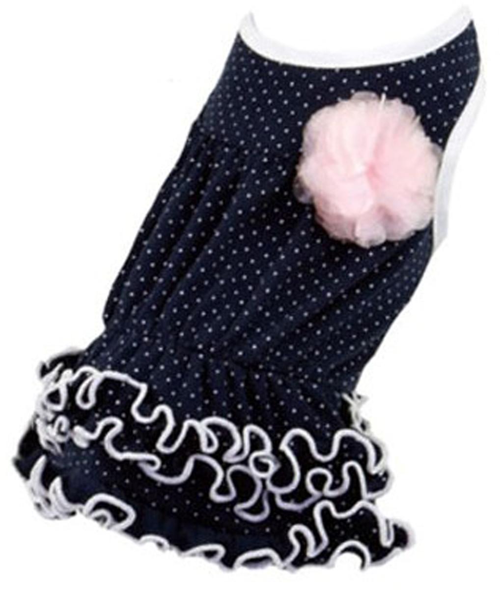 """Платье для собак """"Dobaz"""", цвет: темно-синий. ДА13019АЛ. Размер L"""